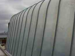 Zinc cladding curved